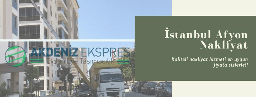 İstanbul Afyonkarahisar evden eve nakliyat